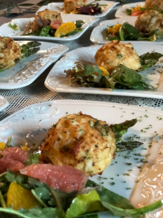 Plated Crab Cakes