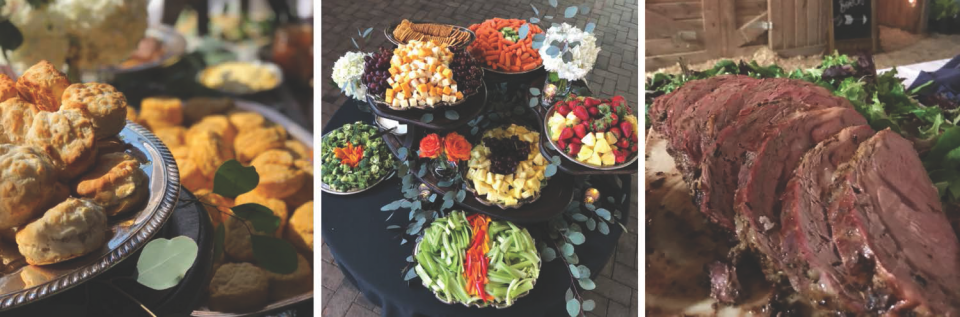 Leave the little details to us--it's your wedding day after all!  We have an accomplished catering staff and a reception menu tailored to your needs.